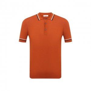 Хлопковое поло Gran Sasso. Цвет: оранжевый
