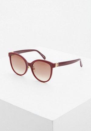 Очки солнцезащитные Givenchy GV 7151/F/S LHF. Цвет: бордовый