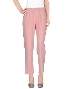 Повседневные брюки LABORATORIO. Цвет: розовый