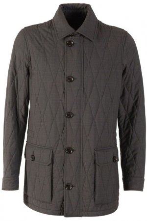 Куртка Zegna. Цвет: темно-серый