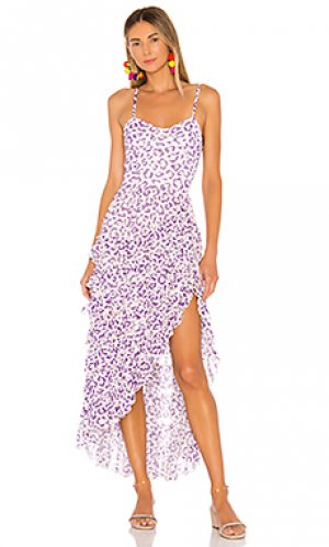 Платье миди avana ROCOCO SAND. Цвет: purple,pink