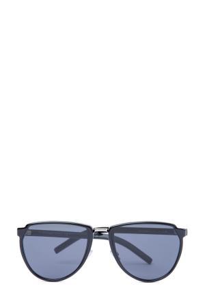 Очки с угловатым мостом и округлой оправой со скошенной верхней частью DIOR (sunglasses) men