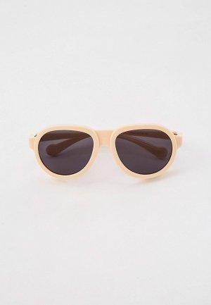 Очки солнцезащитные Bocciolo. Цвет: бежевый