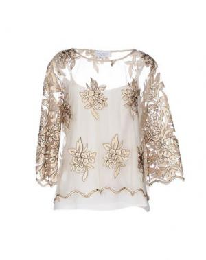 Блузка ANNA RACHELE. Цвет: бежевый