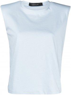 Топ с объемными плечами Federica Tosi. Цвет: синий