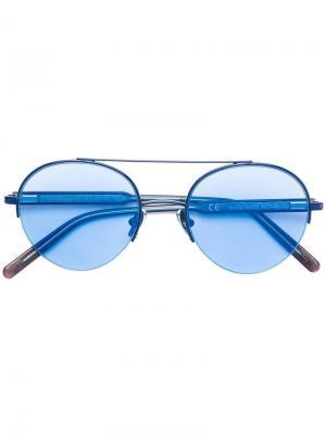 Солнцезащитные очки Cooper Celeste Retrosuperfuture. Цвет: синий