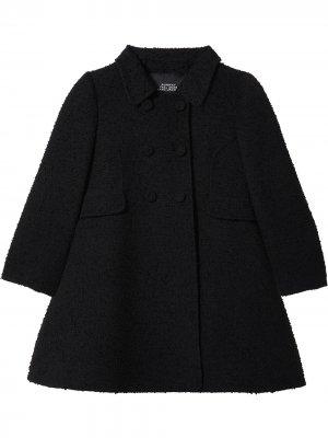 Расклешенное двубортное пальто Marc Jacobs. Цвет: черный