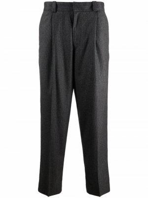 Строгие брюки в тонкую полоску Acne Studios. Цвет: серый
