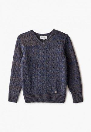 Пуловер Снег Идёт. Цвет: синий