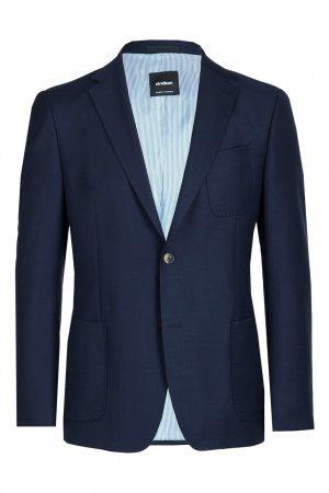 Темно-синий пиджак с накладными карманами Strellson. Цвет: синий