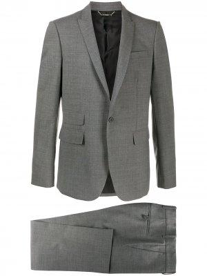 Строгий костюм с однобортным пиджаком Les Hommes. Цвет: серый