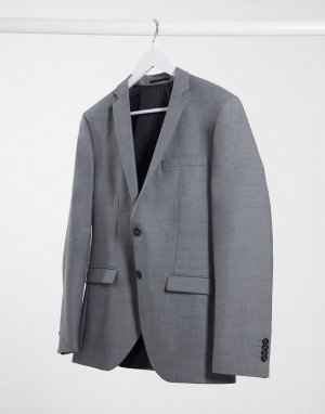 Светло-серый приталенный пиджак Premium Jack & Jones