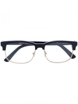 Очки в половинчатой оправе Cutler & Gross. Цвет: чёрный