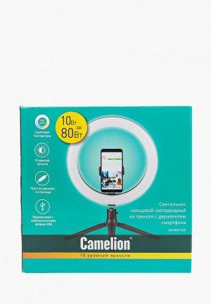 Светильник Camelion KD-849 C02, Светодиодный, с держателем смартфона, 10 уровней яркости, 26х29 см. Цвет: черный