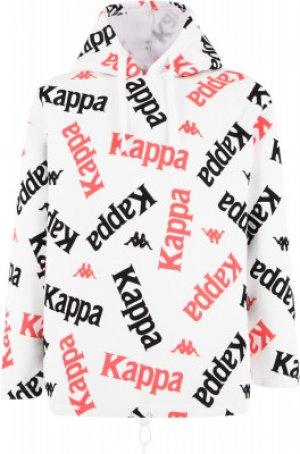 Толстовка для девочек , размер 140 Kappa. Цвет: белый