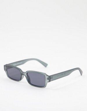 Черные квадратные солнцезащитные очки -Черный цвет Bershka