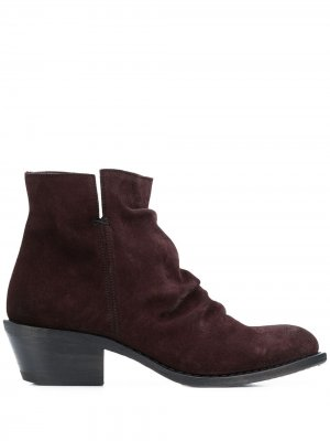 Ботинки с мятым эффектом Fiorentini + Baker. Цвет: коричневый