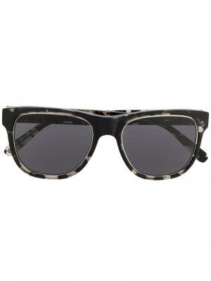Солнцезащитные очки в квадратной оправе Philipp Plein. Цвет: серый