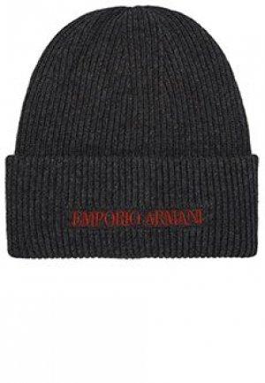 Шапка EMPORIO ARMANI. Цвет: серый