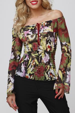 Блуза FIFI LAKRES. Цвет: черный, красный