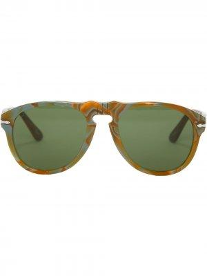 Солнцезащитные очки-авиаторы из коллаборации с Persol JW Anderson. Цвет: зеленый