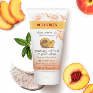 Скраб для лица Peach & Willowbark Deep Pore Scrub (4 унции / 110 г) Burts Bees