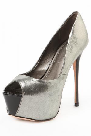 Туфли открытые Jean-Michel Cazabat. Цвет: серебряный