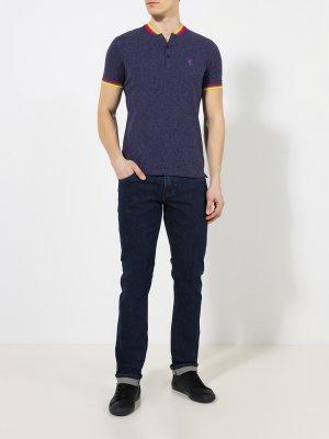 Прямые джинсы Korpo. Цвет: siniy