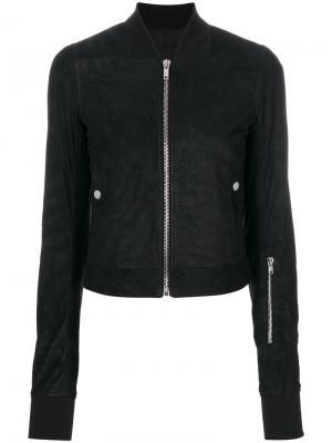 Классическая куртка-бомбер Rick Owens. Цвет: черный