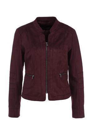 Куртка кожаная Gerry Weber. Цвет: бордовый