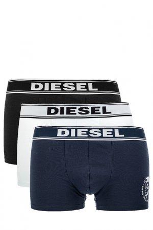 Комплект трусов Diesel. Цвет: белый, синий, черный