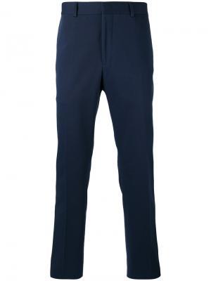 Брюки с вышивкой Fendi. Цвет: синий