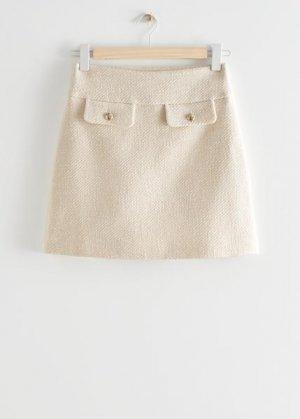 Мини-юбка с карманами &Other Stories. Цвет: белый