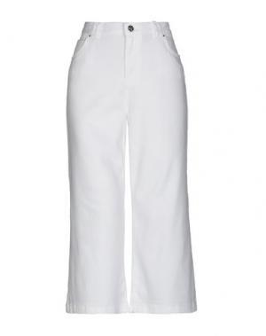 Джинсовые брюки-капри SILVIAN HEACH. Цвет: белый