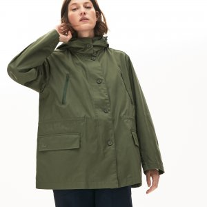 Куртка Парка Lacoste. Цвет: зеленый