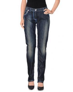 Джинсовые брюки ANGELO MOZZILLO. Цвет: синий