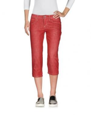 Джинсовые брюки-капри FRANKIE MORELLO. Цвет: красный