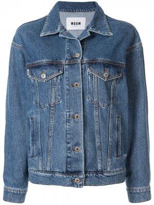 Классическая джинсовая куртка MSGM. Цвет: bl