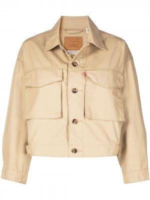 Levis укороченная джинсовая куртка Levi's. Цвет: нейтральные цвета