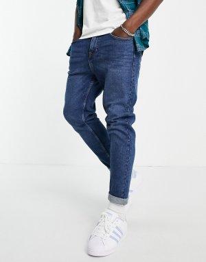 Синие зауженные джинсы -Голубой New Look