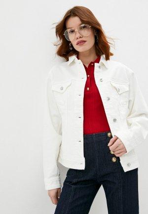Куртка джинсовая Michael Kors. Цвет: белый
