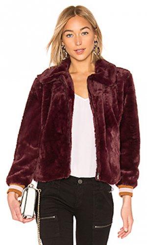 Куртка бомбер J.O.A.. Цвет: красное вино