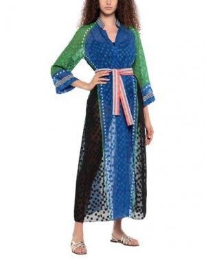 Пляжное платье AGOGOA. Цвет: ярко-синий