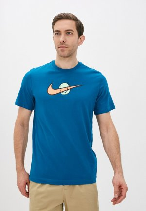 Футболка Nike M NKCT TEE SWOOSH TENNIS. Цвет: синий