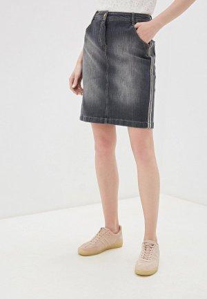 Юбка джинсовая Taifun. Цвет: серый