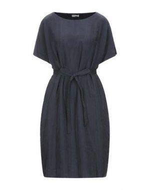 Платье до колена CAPPELLINI by PESERICO. Цвет: темно-синий