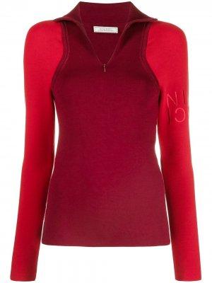 Джемпер с логотипом Nina Ricci. Цвет: красный