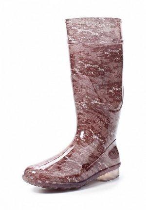 Резиновые сапоги Lalu. Цвет: коричневый