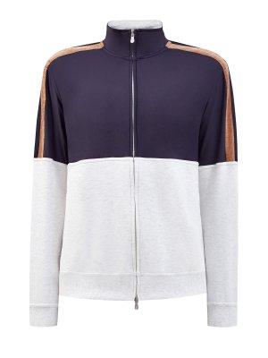 Толстовка из хлопка и нейлона линии Travelwear BRUNELLO CUCINELLI. Цвет: мульти