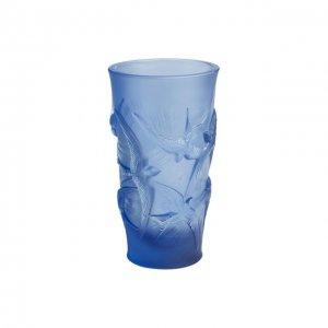Ваза Hirondelles Lalique. Цвет: синий